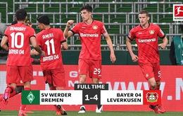 Werder Bremen 1-4 Bayer Leverkusen: Chiến thắng cách biệt (Vòng 26 VĐQG Đức, Bundesliga)