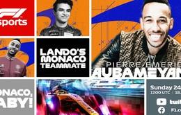 F1: Đội trưởng Arsenal Aubameyang sẽ tham gia chặng đua giả lập GP Monaco