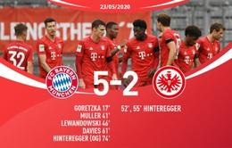 Bayern Munich 5-2 Frankfurt: Cơn mưa bàn thắng