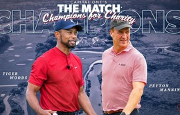 """Tiger Woods và Peyton Manning thắng """"The Match: Champions for Charity"""""""