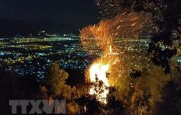 Đà Nẵng: Lực lượng chức năng chưa thể tiếp cận điểm cháy trên đỉnh núi Sọ