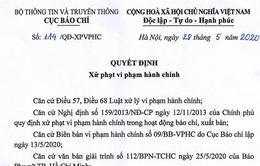 Tước giấy phép hoạt động báo điện tử 1 tháng với báo Phụ nữ TP.HCM