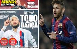 Quyết tâm trở lại Barcelona, Neymar sẵn sàng nhận mức lương gây sốc