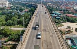 Từ 6/8, cấm các phương tiện lưu thông trên cầu Thăng Long