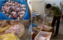 Cận cảnh hơn 6 tấn chân gà, tim, nầm lợn bẩn sắp đi tiêu thụ ở Hà Nội