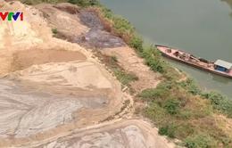 Tái diễn tình trạng khai thác cát trái phép tại Bình Phước