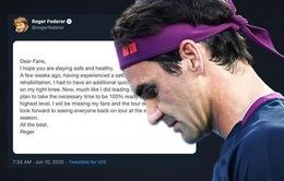 Roger Federer sẽ nghỉ thi đấu hết năm 2020
