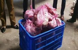 Bắt giữ 1,5 tấn thịt vịt, nầm lợn bốc mùi hôi thối