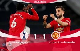 Tottenham 1-1 Man Utd: Bruno Fernandes lấy lại 1 điểm cho Quỷ đỏ