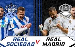 Real Sociedad – Real Madrid: Thắng để bám đuổi Barcelona (3h00 ngày 22/6)