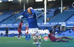 Everton 0-0 Liverpool: Cầm hoà tại Goodison Park (Vòng 30 Ngoại hạng Anh)