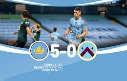 Vòng 30 Ngoại hạng Anh: Mahrez - Foden tỏa sáng, Man City thắng đậm Burnley!