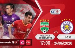 V-League vòng 6: ĐKVĐ Hà Nội và chuyến làm khách bão táp ở Bình Dương (17h, 24/6)