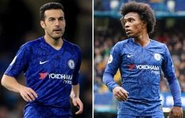 Chelsea giữ chân thành công Willian và Pedro tới hết mùa giải