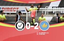 Newcastle 0-2 Man City: Chiến thắng dễ dàng (Tứ kết Cúp FA)