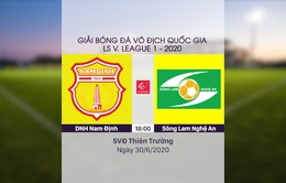 VIDEO Highlights: DNH Nam Định 3–0 Sông Lam Nghệ An (Vòng 7 LS V.League 1-2020)