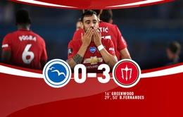 Brighton 0-3 Man Utd: Bruno Fernandes lập cú đúp
