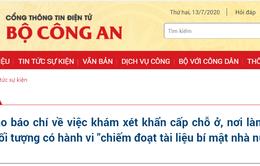 Khám xét khẩn cấp đối với cán bộ phòng Thư ký biên tập và lái xe của UBND TP Hà Nội