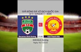 VIDEO Highlights: Becamex Bình Dương 0-1 CLB Thanh Hoá (Vòng 10 V.League 2020)