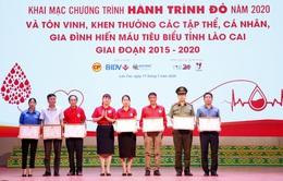 Hành trình đỏ 2020 tại Lào Cai thu được gần 900 đơn vị máu