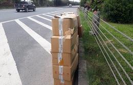 Phát hiện 20 thùng thuốc tây hết hạn sử dụng bị vứt bỏ trên Đại lộ Thăng Long