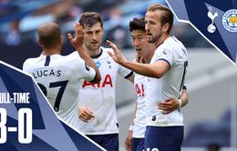 Kết quả, bảng xếp hạng Ngoại hạng Anh vòng 37: Tottenham 3-0 Leicester City, Bournemouth 0-2 Southampton