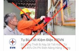 Giả mạo thương hiệu của EVN để quảng cáo, bán hàng