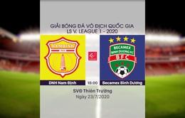 VIDEO Highlights: DNH Nam Định 1-1 Becamex Bình Dương (Vòng 11 LS V.League 1-2020)