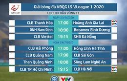 Lịch thi đấu và trực tiếp V.League 2020 hôm nay (23/7): CLB Thanh Hóa - Hoàng Anh Gia Lai (17h00 trên VTV6, VTV5 và ứng dụng VTV Sports)