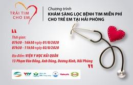 Khám sàng lọc bệnh tim miễn phí cho trẻ em tại Hải Phòng
