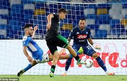 Napoli 2-0 Sassuolo: 3 lần bị từ chối bàn thắng, Sassuolo trắng tay trên sân của Napoli