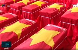 Kiên Giang: An táng hài cốt liệt sỹ quân tình nguyện, chuyên gia Việt Nam