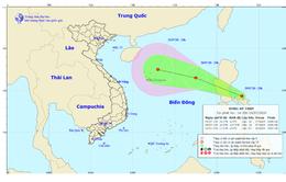 Vùng áp thấp đang đi vào Biển Đông và có khả năng mạnh lên