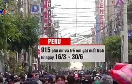 Hơn 900 phụ nữ và trẻ em gái Peru mất tích sau lệnh đóng cửa vì COVID-19