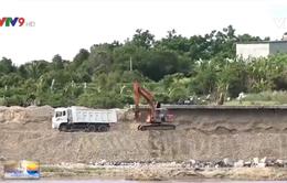 Sông Dinh biến dạng vì khai thác cát