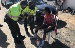 Nairo Quintana gặp tai nạn khi tập luyện
