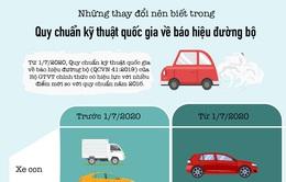 [Infographic] Từ tháng 7/2020, lái xe cần chú ý những thay đổi mới gì về báo hiệu đường bộ?