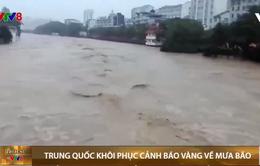 Trung Quốc khôi phục cảnh báo vàng về mưa bão