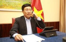 Phó Thủ tướng, Bộ trưởng Ngoại giao Phạm Bình Minh điện đàm với Bộ trưởng Ngoại giao Saudi Arabia
