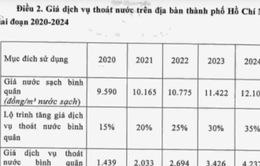 Nhiều ý kiến xung quanh việc thu phí thoát nước của TP.HCM