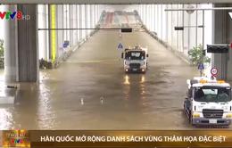 Hàn Quốc đưa thêm 11 khu vực vào danh sách vùng thảm họa đặc biệt vì mưa lũ