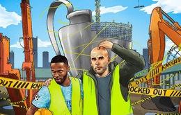 Ảnh chế sau trận Lyon thắng Manchester City