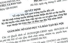 Hà Nội hủy kết quả 4 thí sinh trúng tuyển viên chức