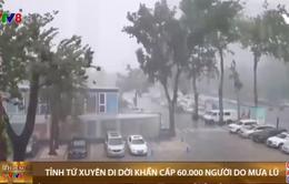 Tỉnh Tứ Xuyên, Trung Quốc di dời khẩn cấp 60.000 người do mưa lũ