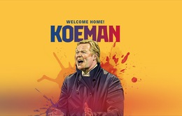CHÍNH THỨC: FC Barcelona bổ nhiệm HLV Ronald Koeman với thời hạn 2 năm