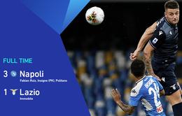 Napoli 3-1 Lazio: Immobile giành Vua phá lưới (Vòng 38 Serie A)