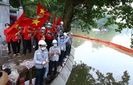 Hoàn thành công trình kè hồ Hoàn Kiếm sau 65 ngày thi công