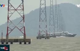 Kiên Giang: Tăng cường bảo vệ đường dây kéo điện trên biển