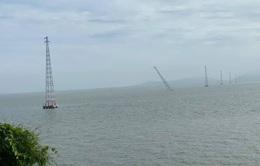Kiên Giang thay thế trụ điện bị đổ trên biển trong 42 ngày