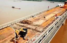 Nhiều công nghệ lần đầu được áp dụng sửa chữa cầu Thăng Long